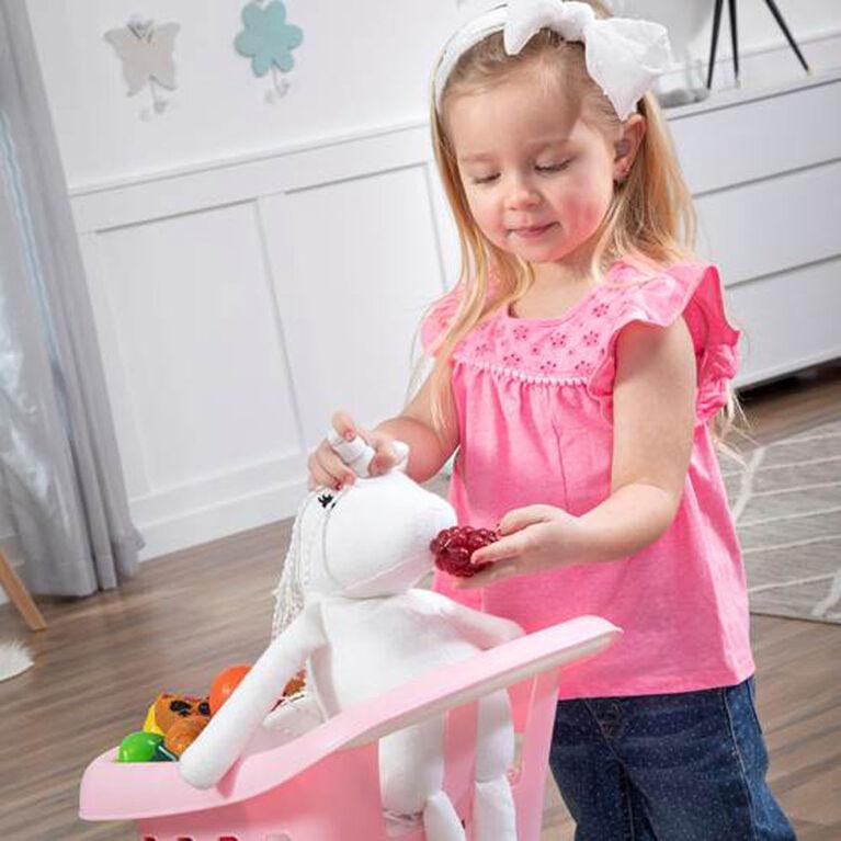 Panier d'achat du petit assistant (Rose) - Step2
