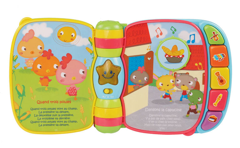 Vtech Musical Rhymes Book French Edition