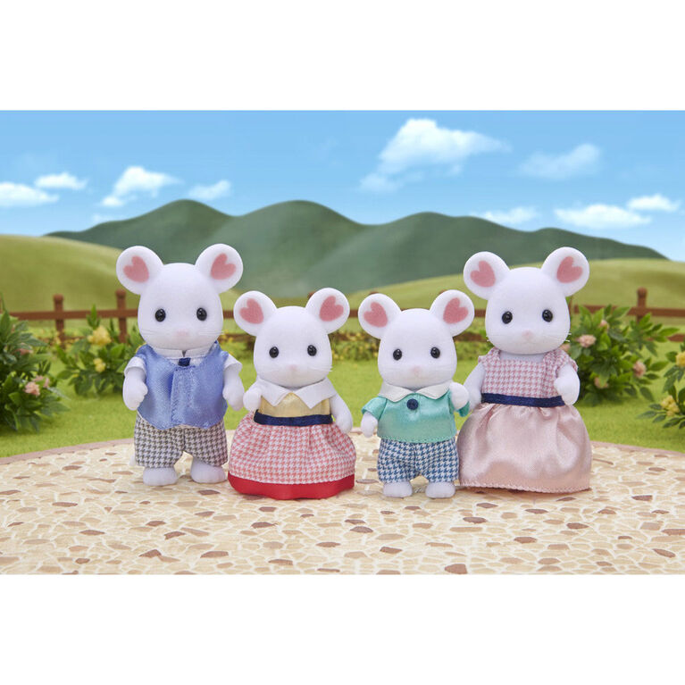 Calico Critters - Marshmallow Mouse Family