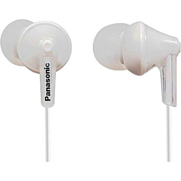 Panasonic RPHJE125 Noise Isolating Ergofit Earbuds - White