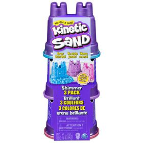 Kinetic Sand - Shimmer Sand 3 Pack with Molds and 12oz of Kinetic Sand