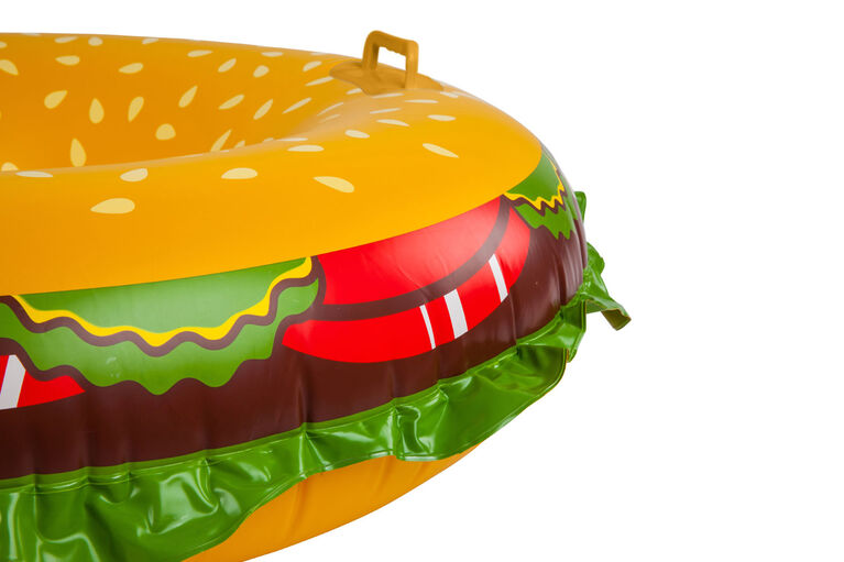 BigMouth Inc Grosse Chambre A Air Pour La Neige, en forme de cheeseburger