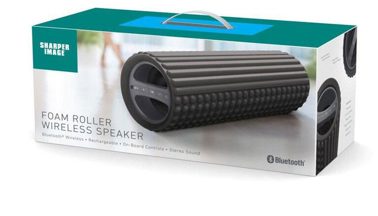 Rouleau en mousse pour exercice Sharper Image avec haut-parleur Bluetooth intégré - Noir