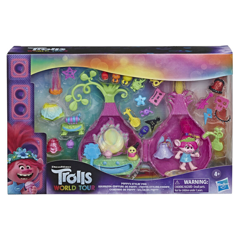 DreamWorks Trolls World Tour Poppy's Stylin' Pod Playset - R Exclusive