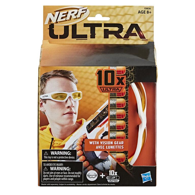Nerf Ultra - Lunettes Vision Gear et 10 fléchettes Nerf Ultra