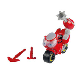 Ricky Zoom Action Racer with Deluxe Rescue Cannon Action Accessory - 3-inch Action Figure - Free-Wheeling, Free Standing Toy Bike for Preschool Play - R Exclusive