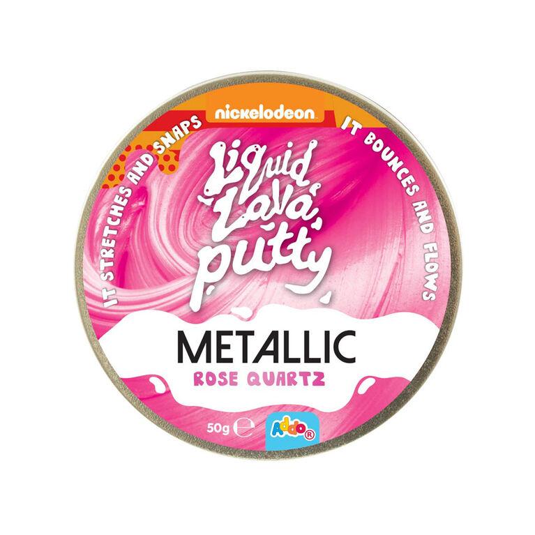 Nickelodeon - Pâte Liquid Lava Putty Metallic - Rose Quartz (rose)