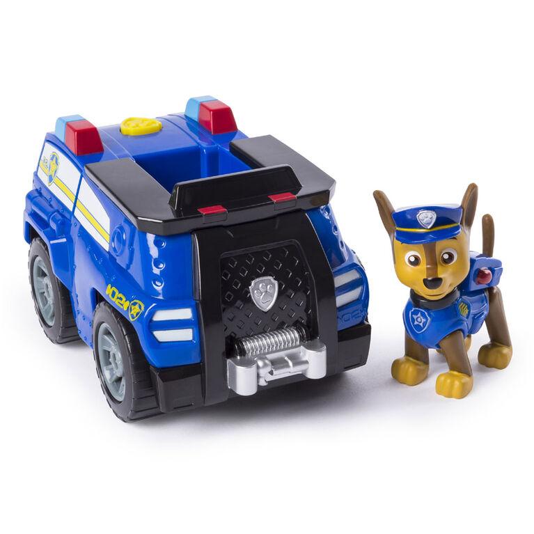 Voiture de police transformable de Chase avec mégaphone déployable Pat' Patrouille