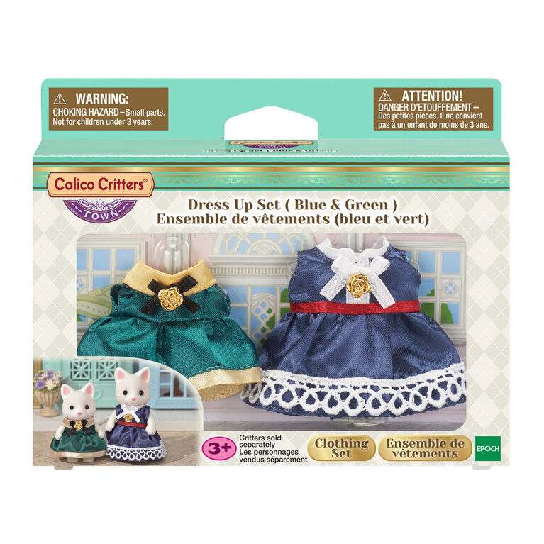 Calico Critters Town Series Dress Up Set (Blue & Green)