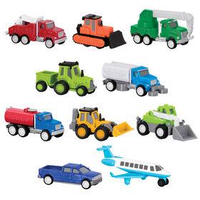 Mini-camions et avion, Ensemble de la Série Format Poche 2 (Paquet de 10), Driven