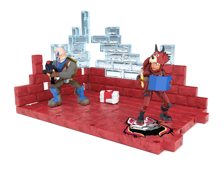 Mega Fort Display set - 2 Exclusive Figures (Tricera Ops and Blue Squire)