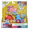 Sesame Street Tow and Go Friends Toy, 3 Linking Vehicles Featuring Elmo, Cookie Monster and Abby Cadabby - R Exclusive