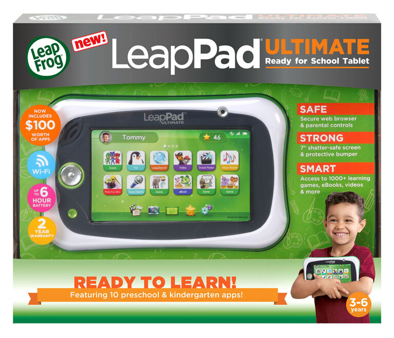LeapFrog LeapPad Ultimate Ready for School Tablet - Vert - Édition anglaise - Édition anglaise