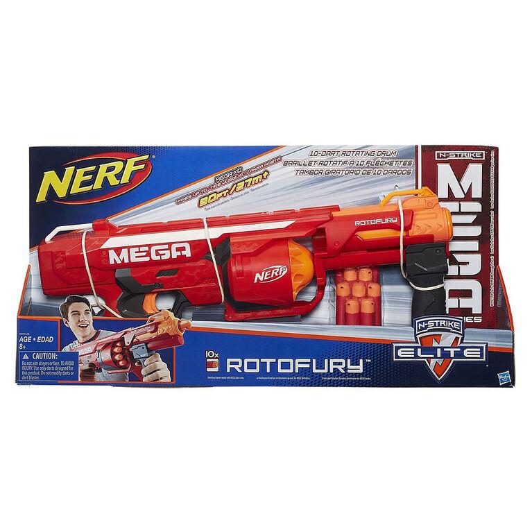 NERF N-Strike Mega Series - Foudroyeur RotoFury - R Exclusif