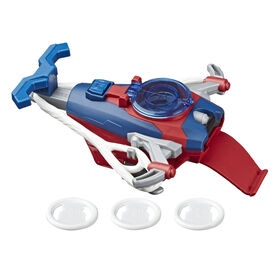 Marvel Spider-Man: Web Shots Gear Disc Slinger Blaster Toy, Includes 3 Web Projectiles