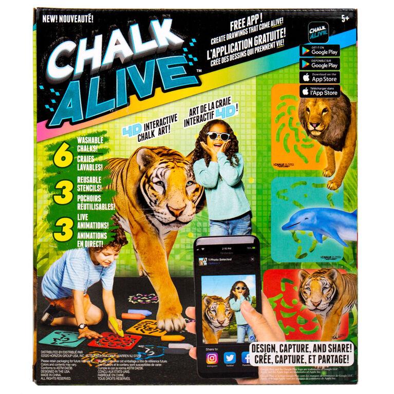 Chalk Alive Lion, tigre, dauphin