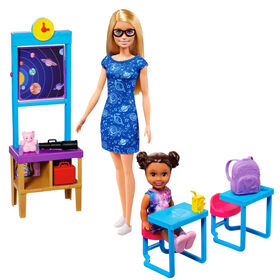 Barbie Space Discovery Barbie Doll & Science Classroom Playset with Student Small Doll - R Exclusive