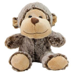 Animal Adventure Tomkins 5 inch Ultra-Soft Plush Animals Brown Monkey