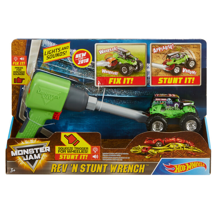 Hot Wheels Monster Jam Rev N' Stunt Wrench Accessory