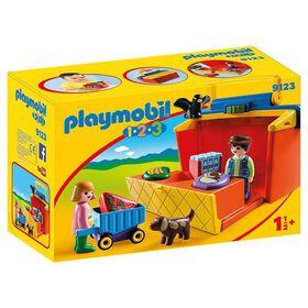 Playmobil 1.2.3. - Étal de marché transportable (9123).