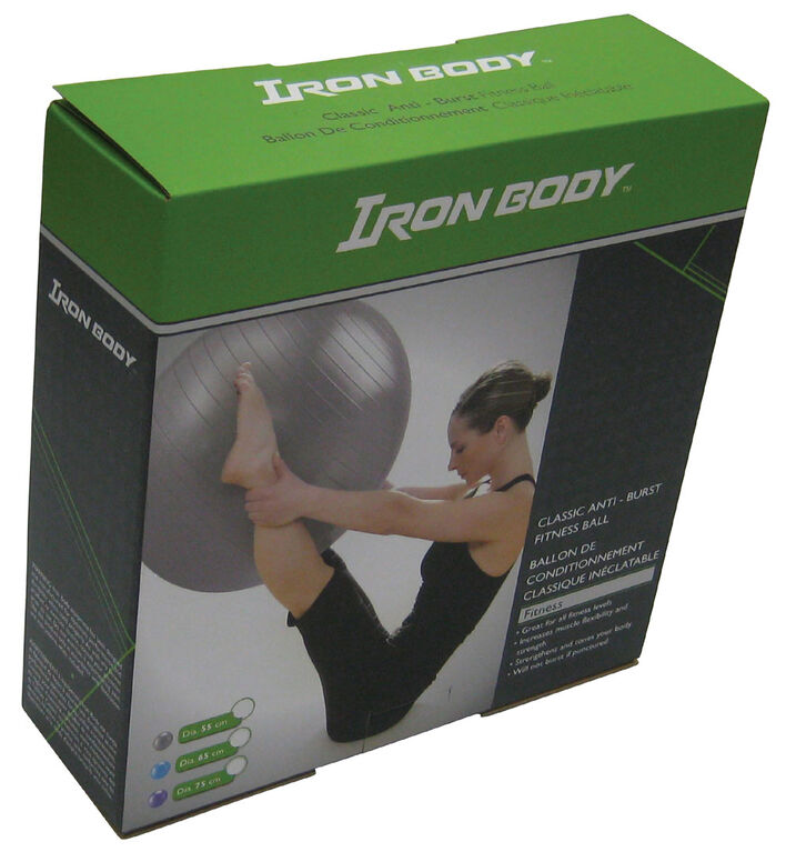 Iron Body Fitness IBF - 75 cm Classic Fitness Ball - Anti-Burst