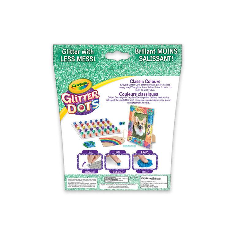 Pois arc-en-ciel Crayola Glitter Dots