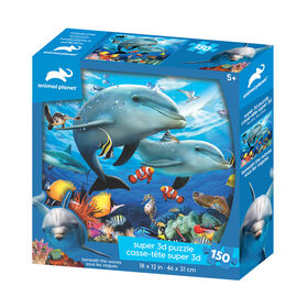 Animal Planet - Beneath The Waves – 150 Piece 3D Puzzle - R Exclusive