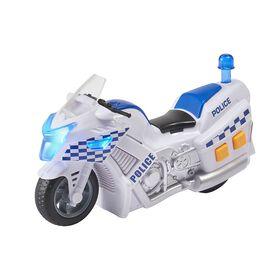 Mini Moto de Police Teamsterz Sons et Lumières.