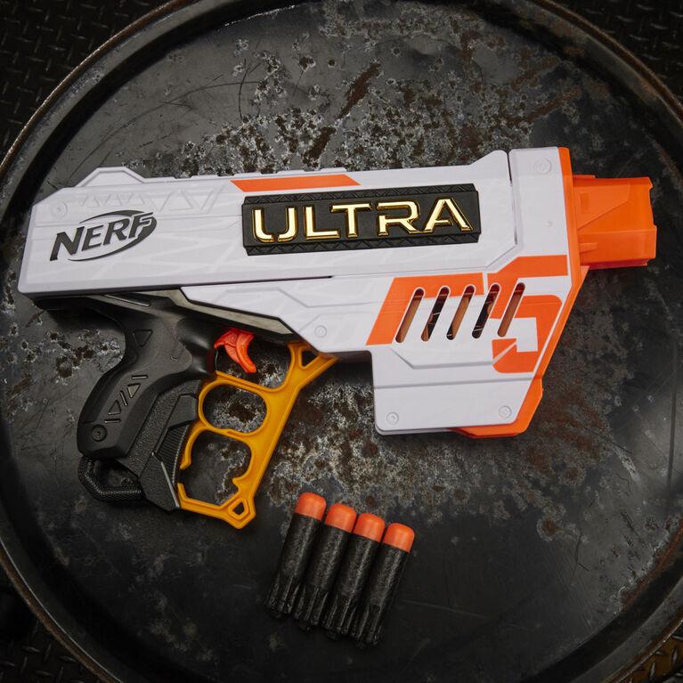 Nerf Ultra Five Blaster - 4-Dart Internal Clip, 4 Nerf Ultra Darts, Dart Storage - Compatible Only with Nerf Ultra Darts