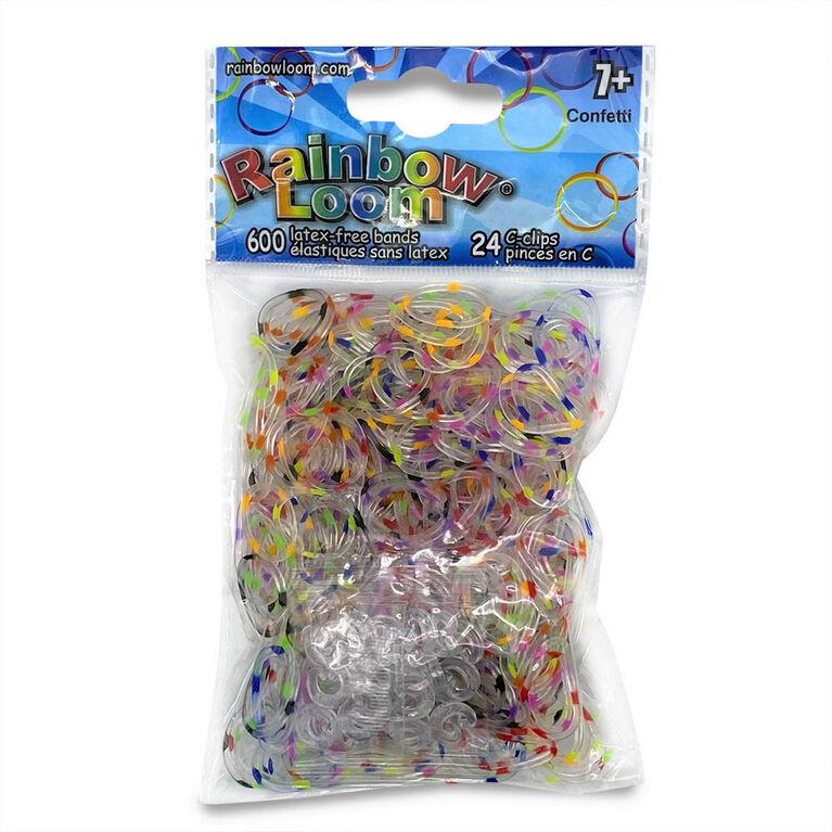 Rainbow Loom-Rubber Bands - Confettis mélangés