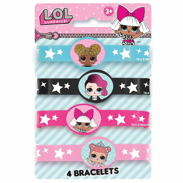 LOL  Stretchy Bracelets, 4 pieces