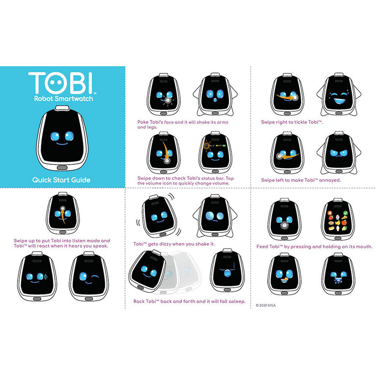 Tobi Robot Smartwatch for Kids with Cameras, Video, Games, and Activities - Blue