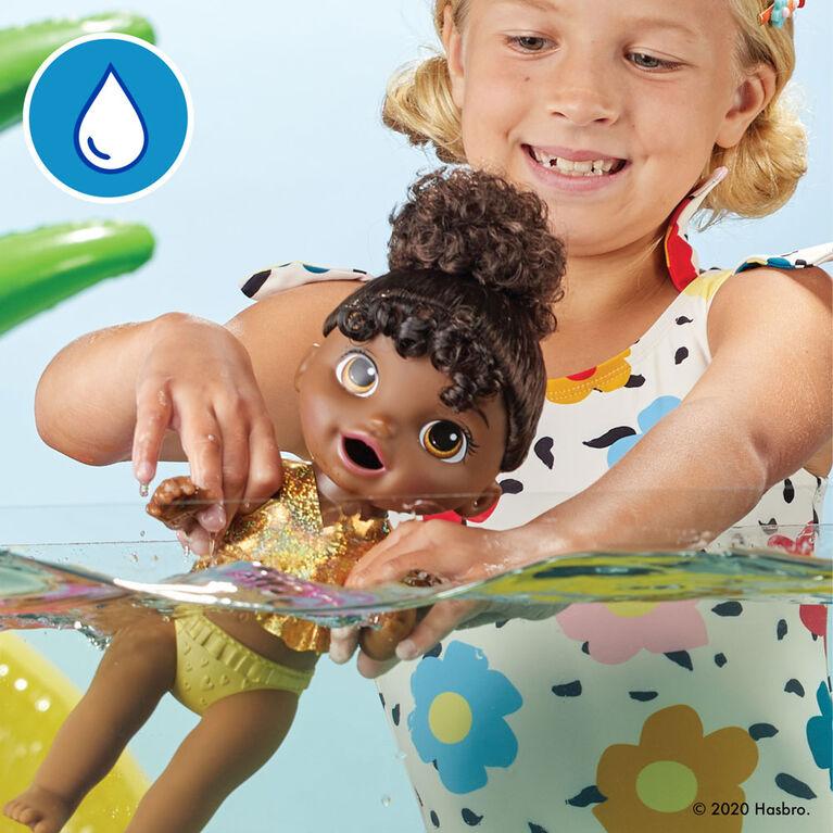 Baby Alive Goûter ensoleillé, mange et fait «caca», poupée à baigner thème estival