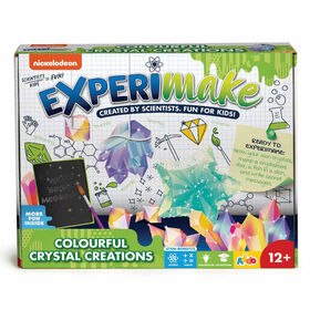 Nickelodeon - Trousse de science Experimake Colorful Crystal Creations - Notre exclusivité - Édition anglaise