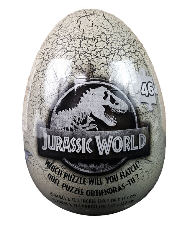 Jurassic World 46-Piece Mystery Puzzle In Egg Packaging