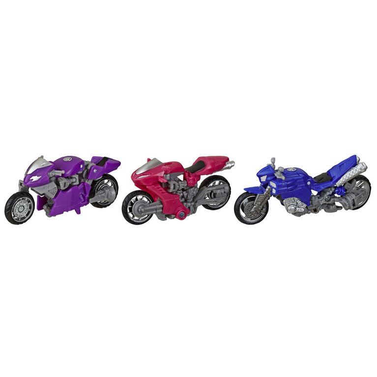 Transformers Toys Studio Series 52 Deluxe Transformers: Revenge of the Fallen Movie Arcee Chromia Elita-1 - 3-Pack, 4.5-inch