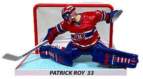 Patrick Roy Canadiens Montréal LNH Figurine 6' avec but.