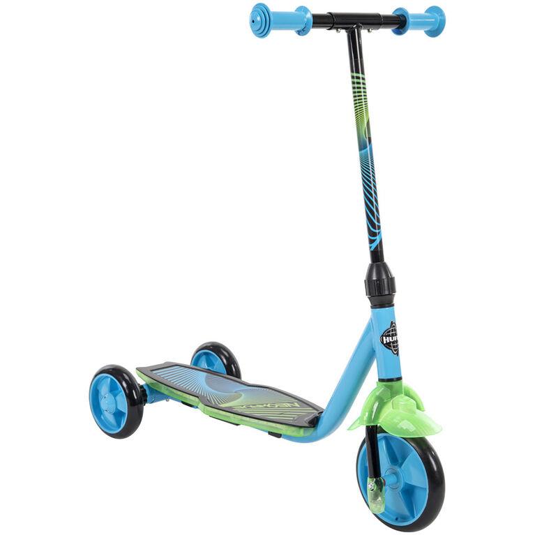 Huffy Neowave - Trottinette lumineuse à 3 roues - Bleu - Notre exclusivité