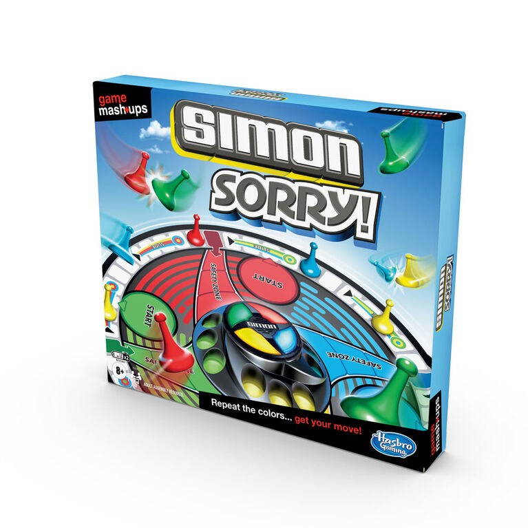 Game Mashups Simon Sorry! Family Board Game, Combines Gameplay of 2 Classic Games - English Edition - R Exclusive