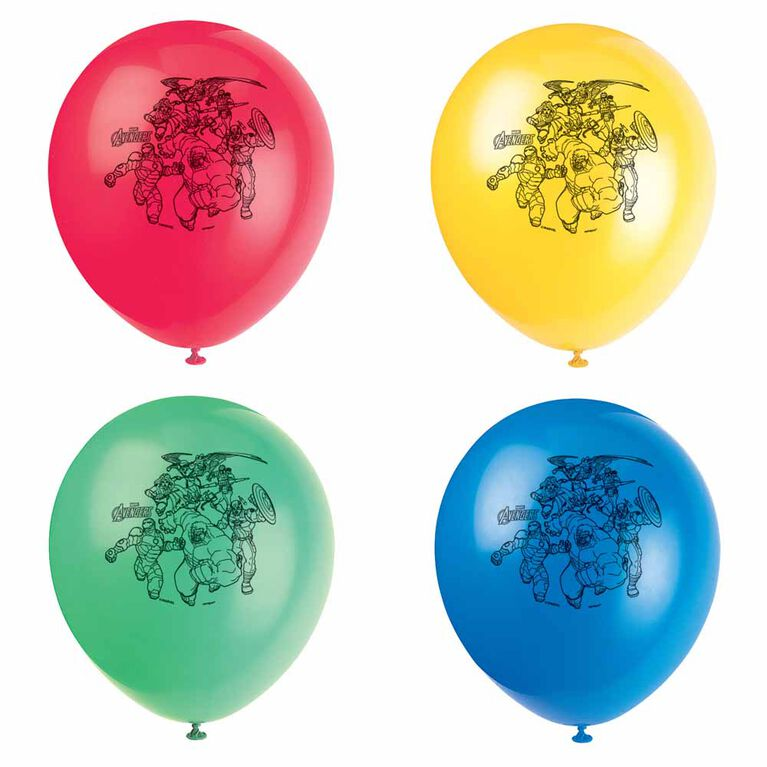 """Avengers 12"""" Latex Balloons, 8 pieces"""