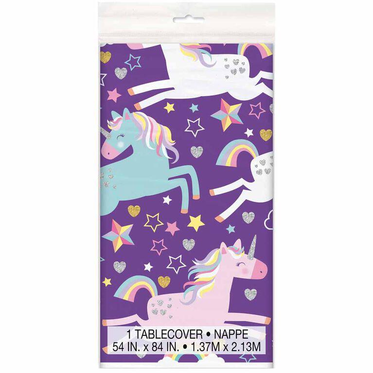 """Unicorn Nappe en Plastique 54"""" x 84"""""""