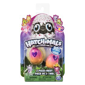 Hatchimals CollEGGtibles - 2-Pack + Nest with Season 4 Hatchimals CollEGGtible (Styles and Colors May Vary)
