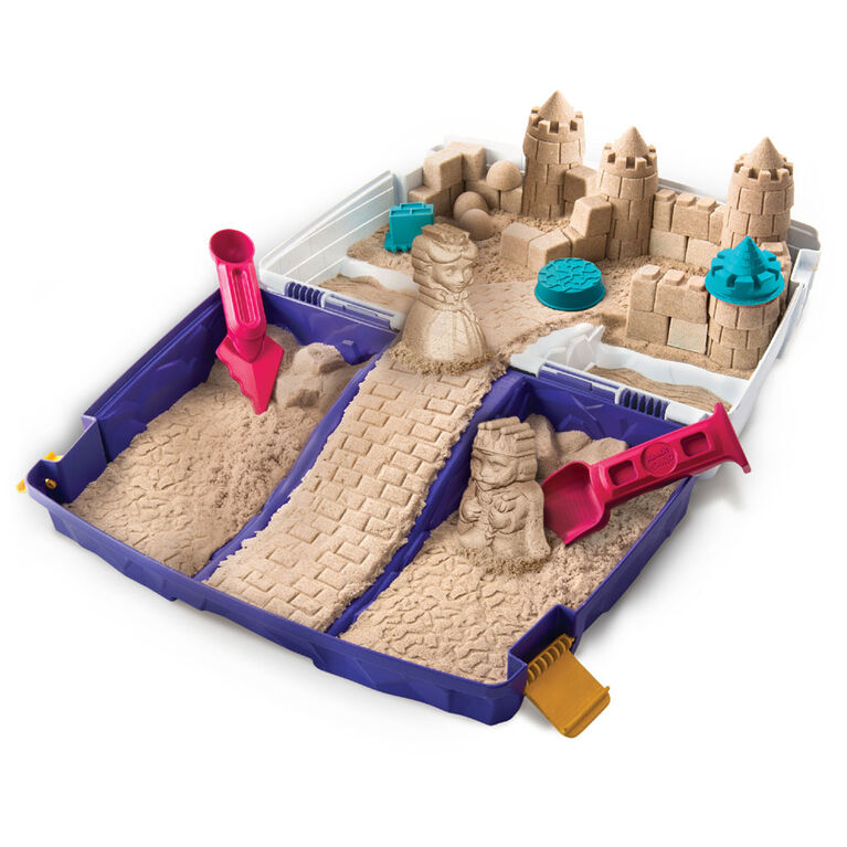 Kinetic Sand, Folding Sand Box with 2lbs of Kinetic Sand and Mold and Tools