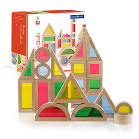 Guidecraft Jr Rainbow Block 40 Piece Set