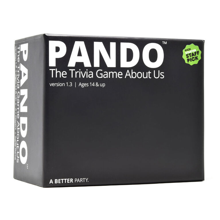 PANDO - The Trivia Game About Us - English Edition