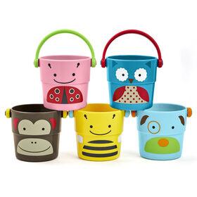 Skip Hop Zoo Bath Stack & Pour Buckets