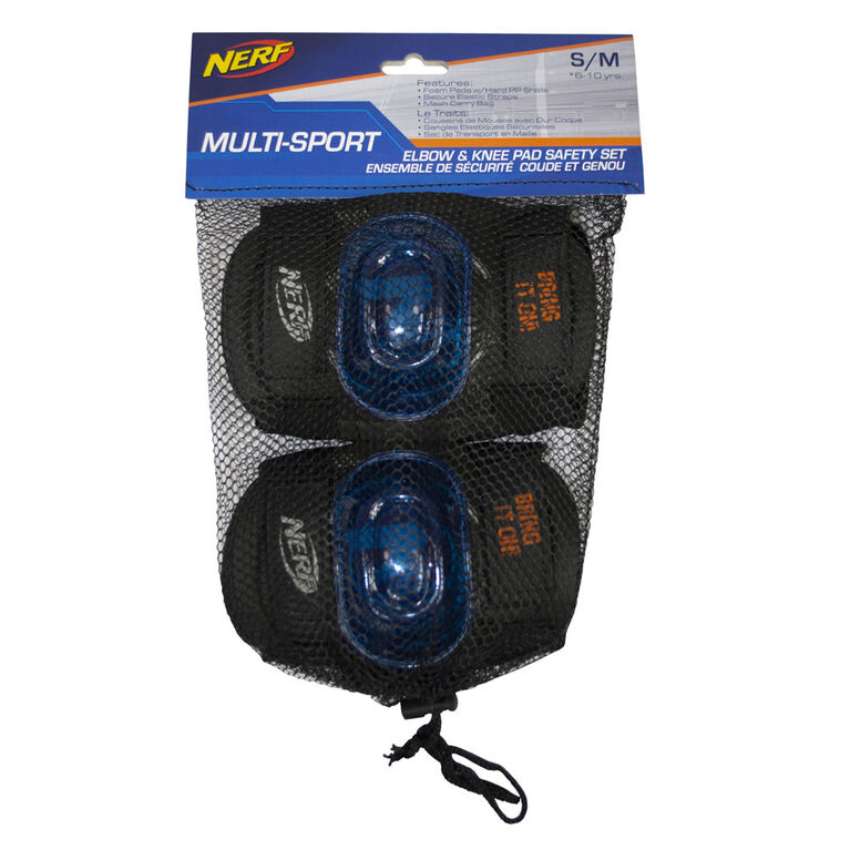 Flybar NERF Safety Gear Set Multi-Sport Safety Gear for Kids, Teens, Adults (Small)