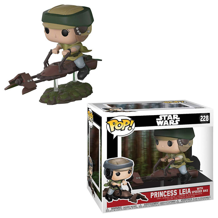 Funko POP Deluxe! Movies: Star Wars - Leia with Speeder Bike Vinyl Figure