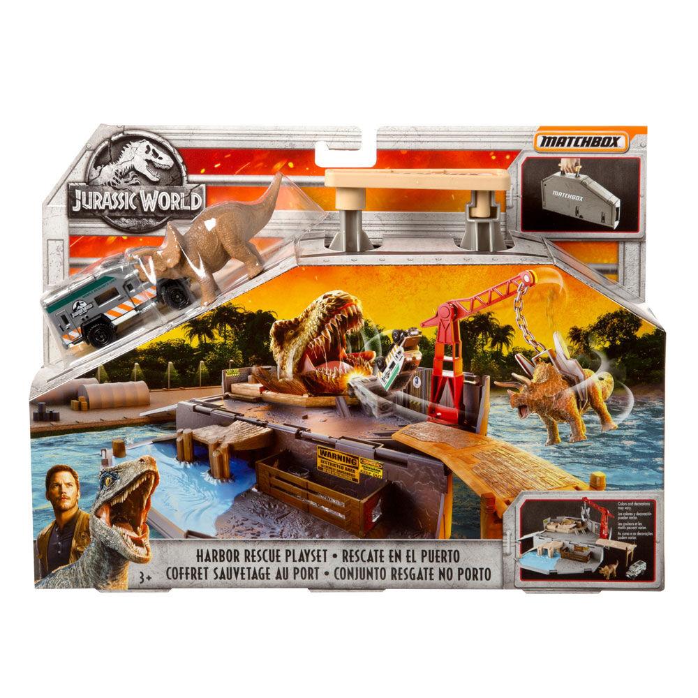 Jurassic World Matchbox Island Escape Playset /& 5 Pack Lot de 2