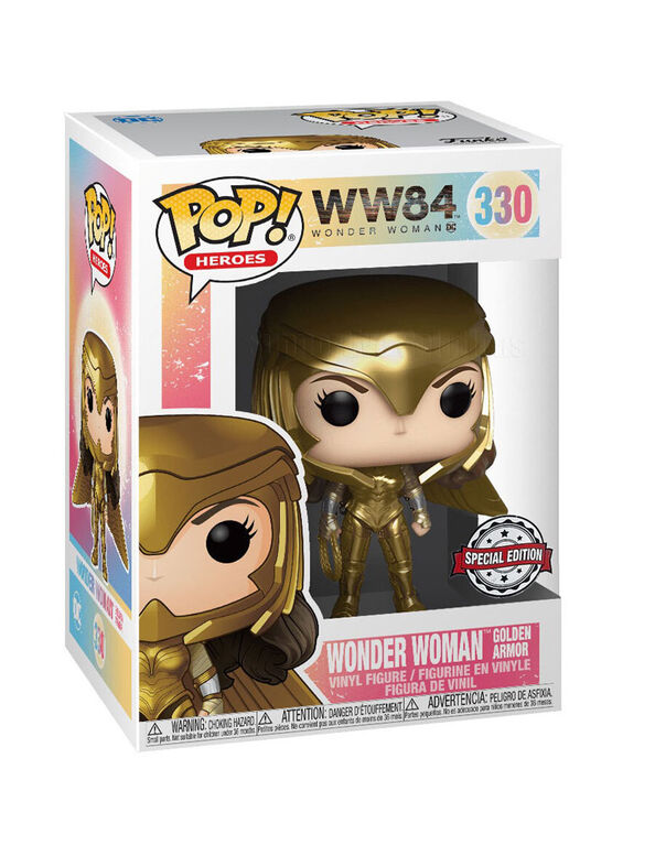 Figurine en Vinyle Wonder Woman Golden Armor WW84 par Funko POP! Wonder Woman - Notre exclusivité